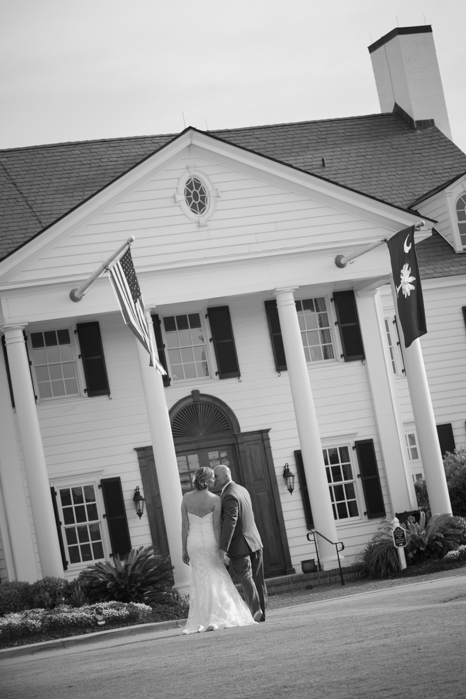 fine art black white wedding portrait myrtle beach