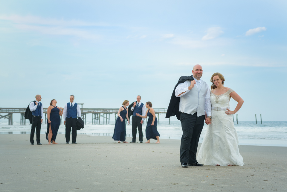 wedding party pose for styled candids in Myrtle Beach